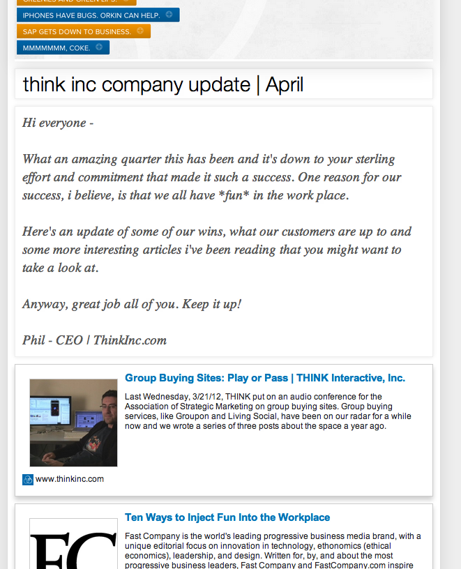 employee newsletter created in just 5 minutes for free